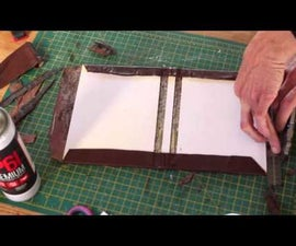 how to make a leather bound hardback notebook or journal