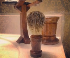 Old Fashion Straight Razor Brush