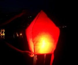 Sky Lantern | How to Make Sky Lantern | Hot Air Balloon