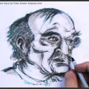 How to Draw an Old Man's Face in Two Point Perspective