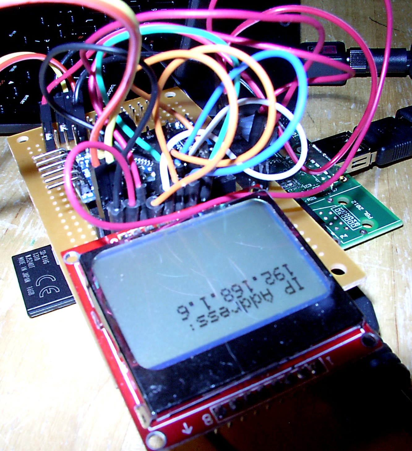 Picture of Software, Part 3: Pi IP Address on Nokia Display