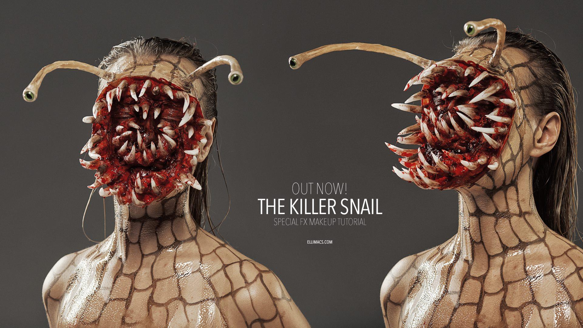 Picture of Killer Snail - Halloween SFX Makeup Tutorial