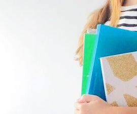 DIY Glitter Notebooks