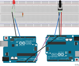 I2C Between Arduinos With Potentiometer and LED