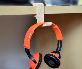 Simple Clip-on Headphone Holder