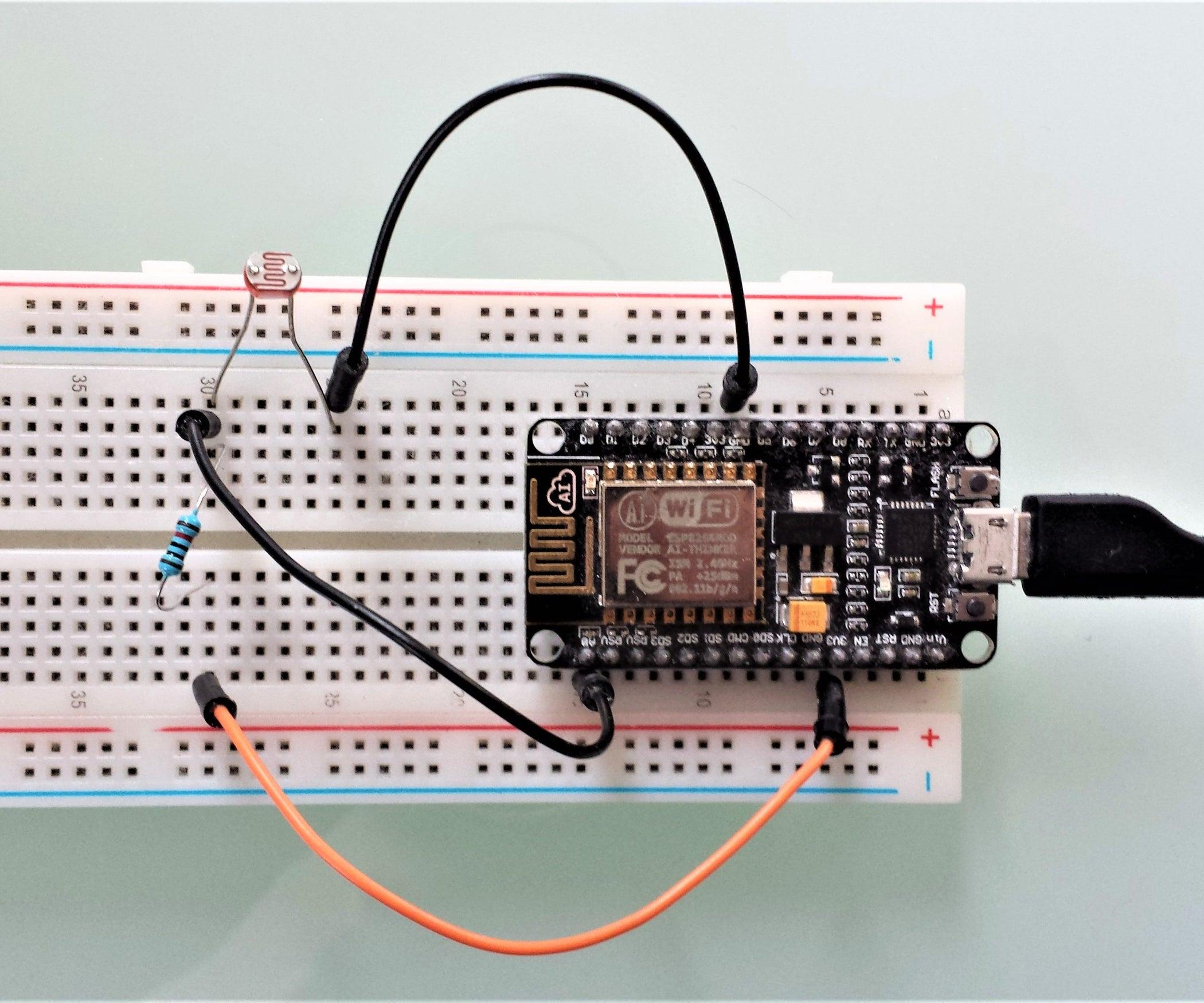 ESP8266 Light Sensor: 4 Steps