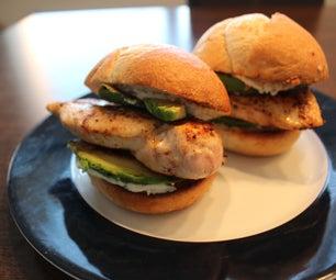 Quick Avocado-Chicken Burger