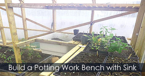 Picture of Step 12: How to Build a Greenhouse Potting Work Bench With Sink