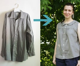 Upcycle a Men's Shirt into a Retro Summer Blouse