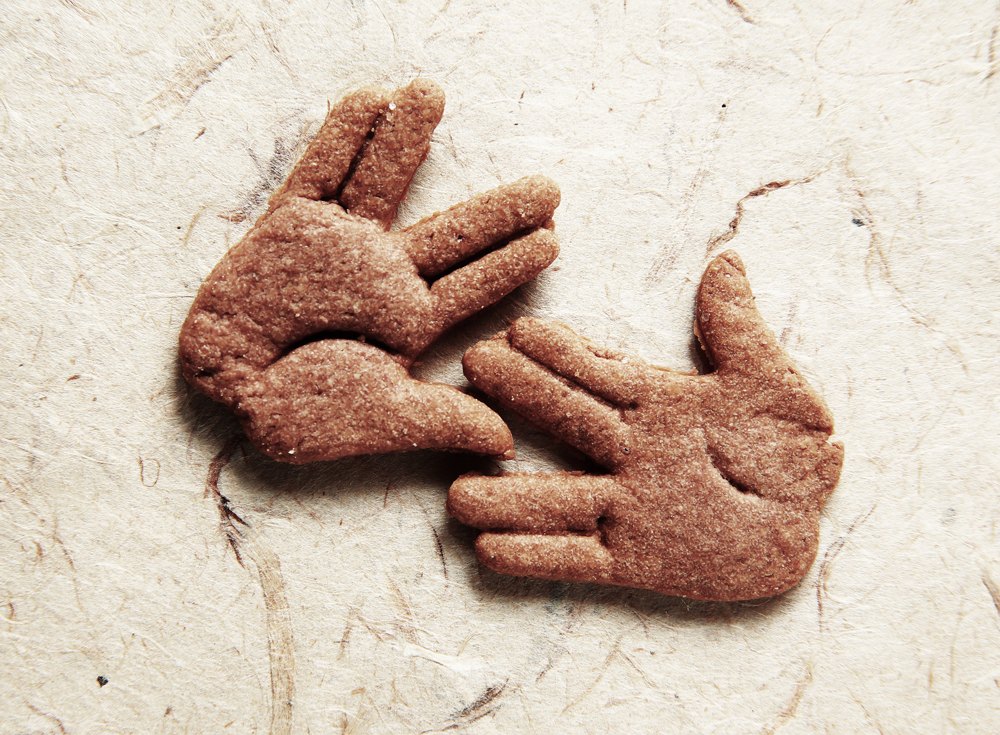 Picture of Vulcan Salute Cookie