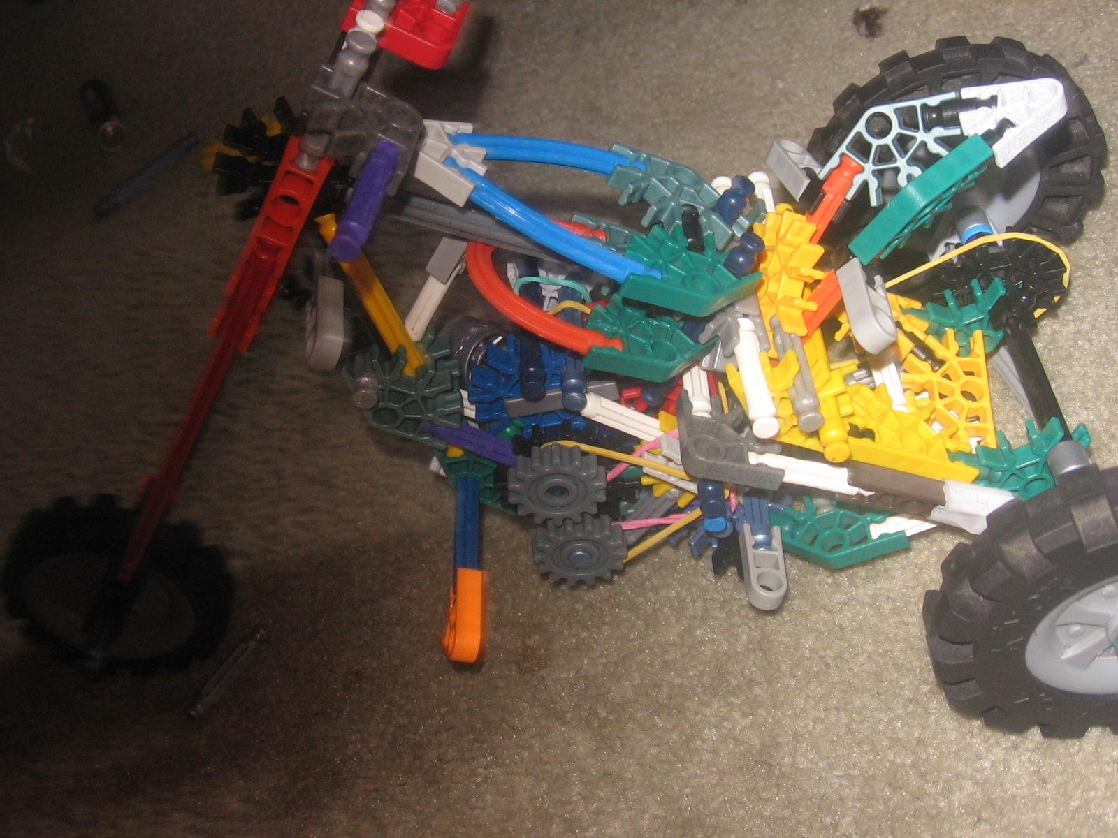 Picture of K,nex 3 Wheel Chopper Bike