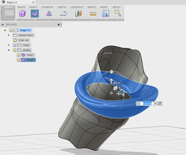 Fusion360:将T条形表单捕捉到3D网格