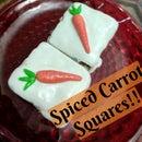 DIY Spiced Carrot Cake Squares!!
