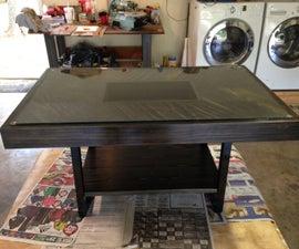 Glass Top Shadowbox Coffee Table