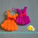how to make a dress loom band charm