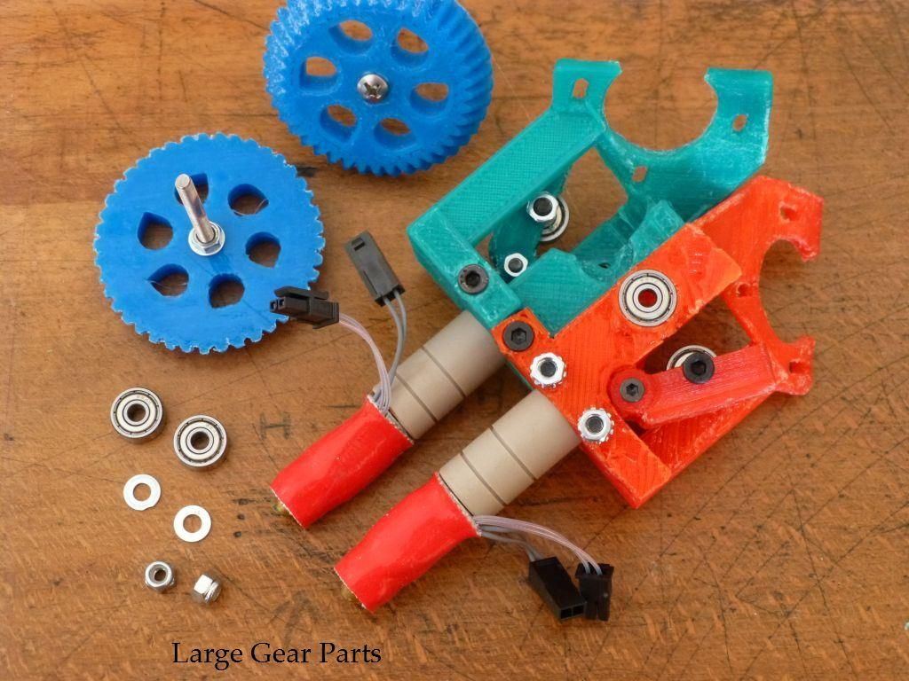 Picture of Install Bearings, Large Gears, and Filament Drive Gears