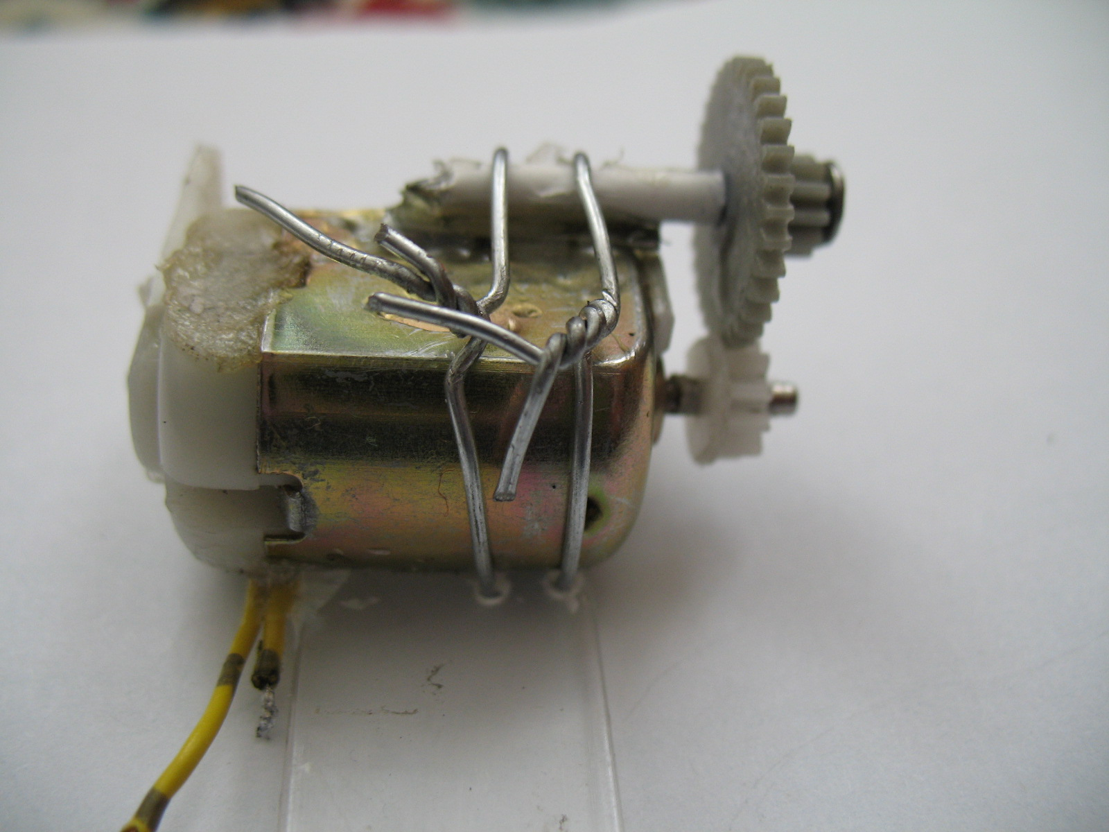 Picture of Motor, Grears, Shaft, and Wheels