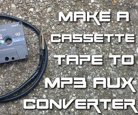 DIY cassette tape to MP3 aux converter