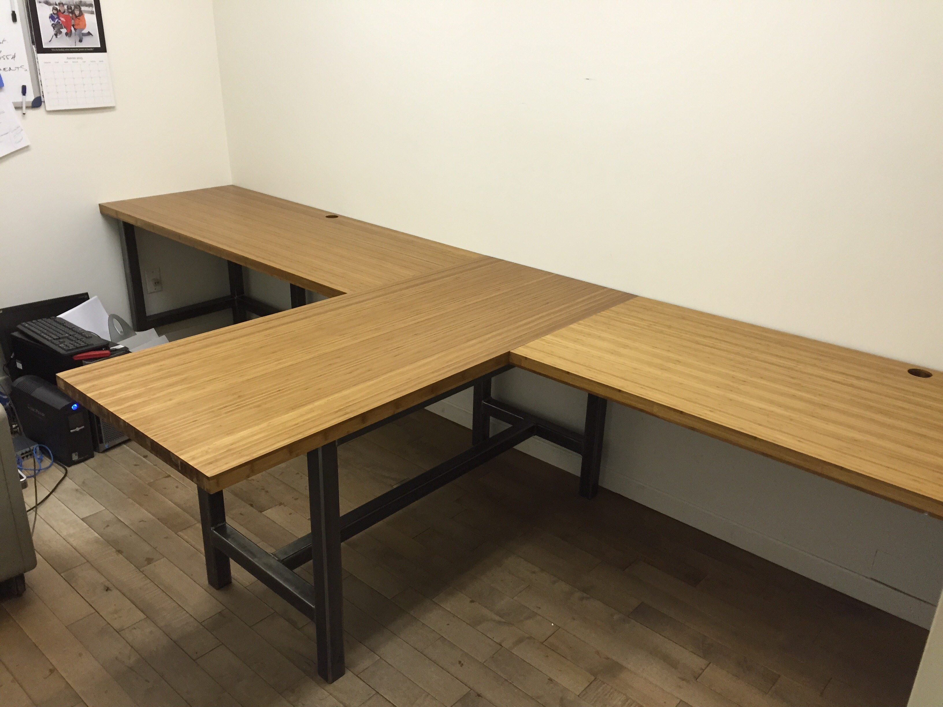 Picture of Steel and Bamboo Desk