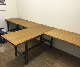 Steel And Bamboo Desk