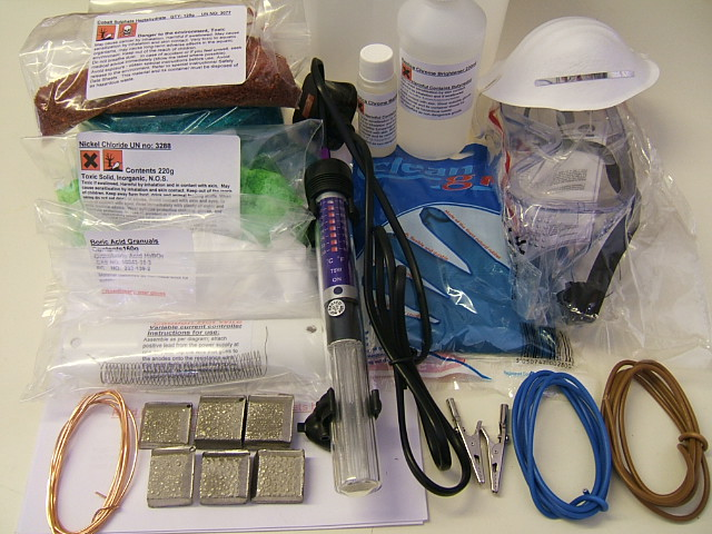Picture of Equipment You Need / the Chemicals