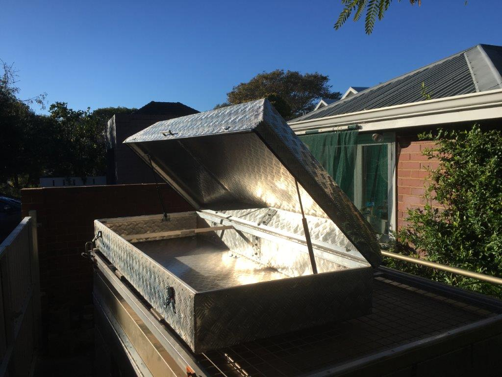 Picture of Bending Large Aluminium Sheet Without a Brake / Building a Car Roof Storage Pod / Box
