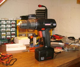 Former cordless drill is now powered by emergency generator