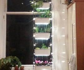 Vertical hydroponic window garden