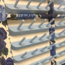 Fabric Covered Window Frame Thread Rack