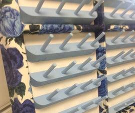 Fabric Covered Window Frame Thread Rack