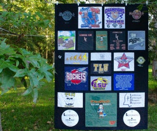 "Custom T-Shirt Quilt Top - Variable Style With 1.5"" Sashing and 2"" Border"