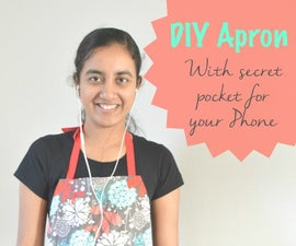 How to Sew an Apron With Secret Pocket for Your Phone