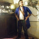 The Guybrush's Coat from an old blue lab coat!