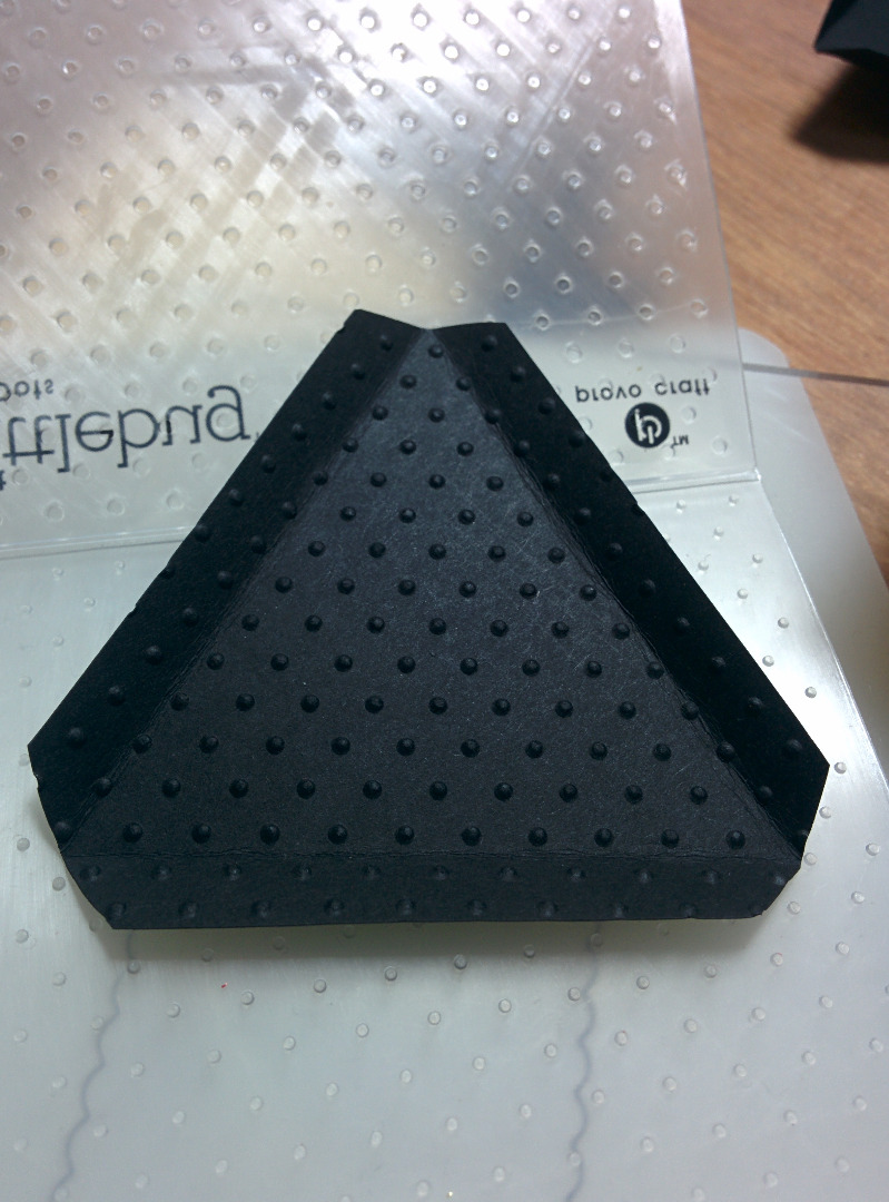 Picture of Embossing the Triangles