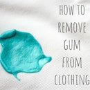 How to remove gum from clothes