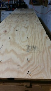 Attach the Plywood to the Top of the Workbench