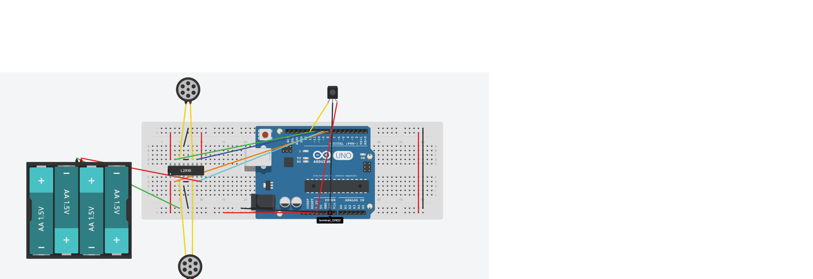 Picture of Step 5 : IR Receiver and  L239D Connection With Arduino