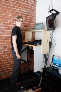 Keyboard Platform and Desk Attached to Treadmill