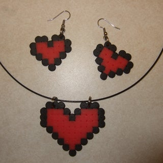 DIY Pixelated Heart Pendant
