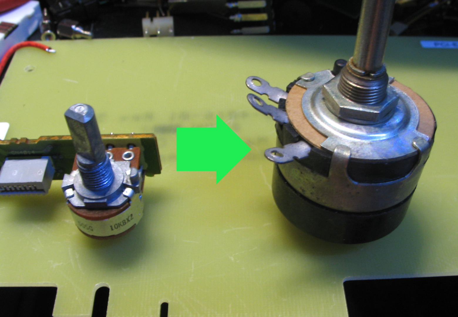 Picture of Super Simple Potentiometer Switch Hack