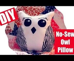 DIY Cute No-Sew Owl Pillow