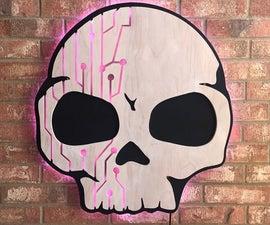 Backlit LED Skull Sign