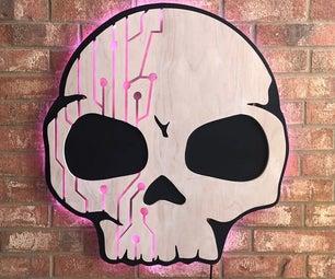 Giant Backlit LED Skull Sign