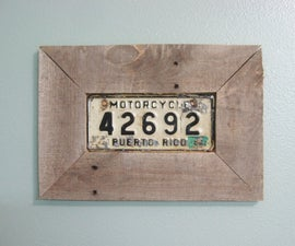 Easy picture frame from pallet wood