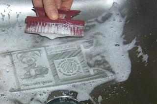 Picture of Washing Out the Stamp