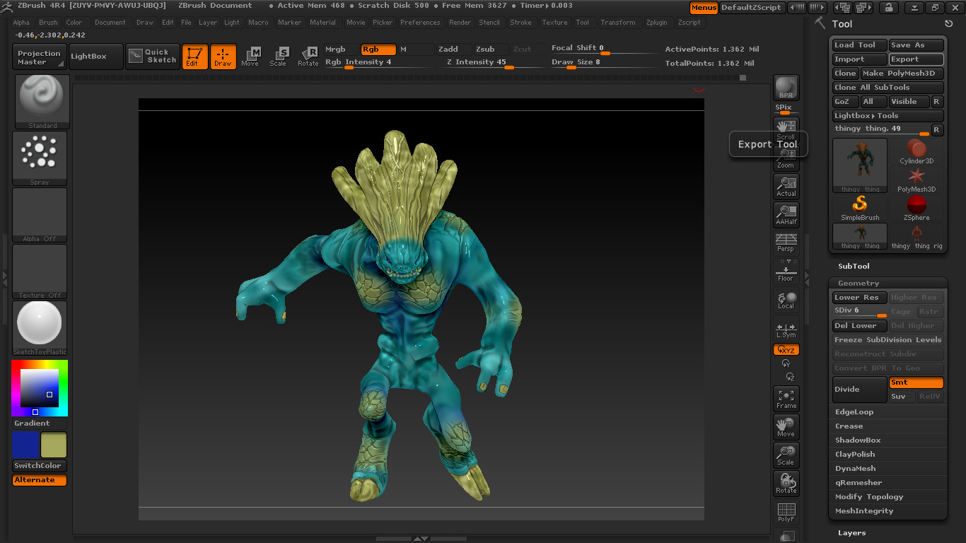 Picture of Creating the 3D File and Exporting