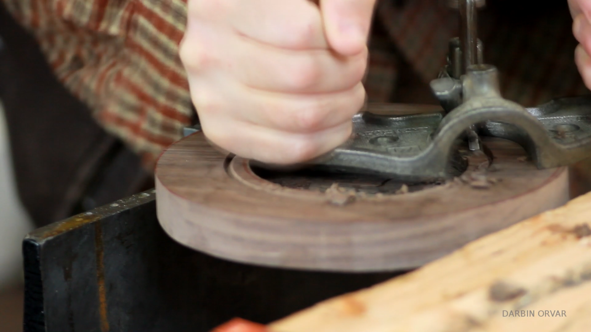 Picture of Cutting the Walnut Top