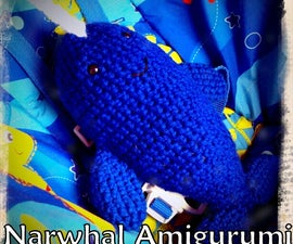 Narwhal Amigurumi with Design