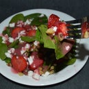 Strawberry Walnut Spinach Salad