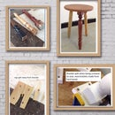 Recycle chair leg stool fails